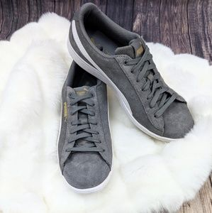 Puma Suede Gray Sneakers Vicky 8.5